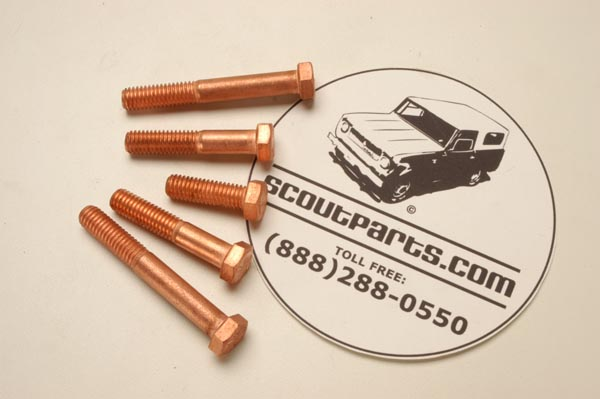 Copper-Clad Exhaust Manifold Bolts - New